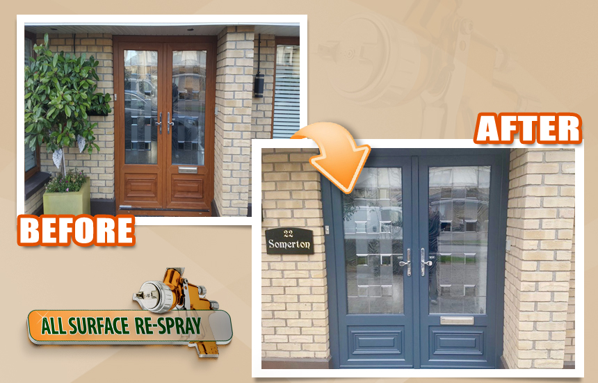 PVC front door Respray