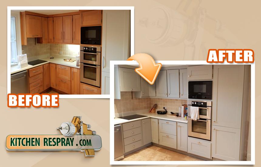 Kitchen Respray Grey Kitchen